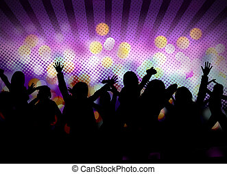 image of dancing people - image of club party with people...