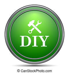 DIY icon Internet button on white background