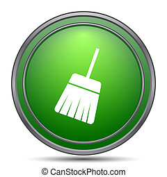 Sweep icon Internet button on white background