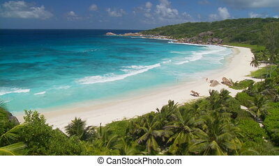 nice view of beach in paradise - breathtaking view at...