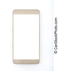 Smart Phone on White Background - High resolution image Of...