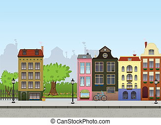 European Cityscape - European City Center. Metropolitan...