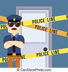 police guarding crime scene