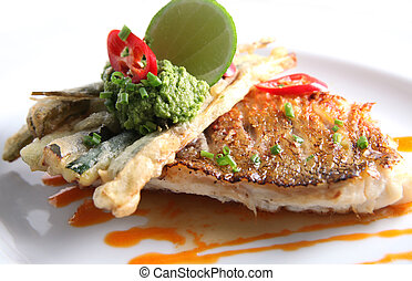 fried baby fish snapper