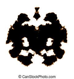 Rorschach Test of an Ink Blot Card