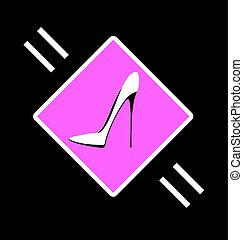 abstract sign of shoe - dark background and abstract image...