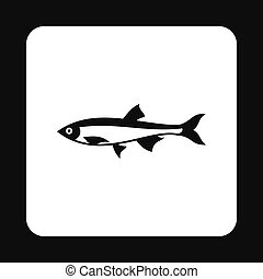 Herring icon, simple style - Herring icon in simple style...