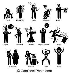 Negative Attitude - Negative personalities traits, attitude,...