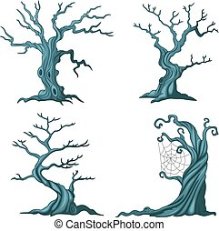 Dead tree collection - Vector illustration of Dead tree...