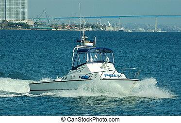 Harbor Police Boat - A Harbor Police Boat on Patrol