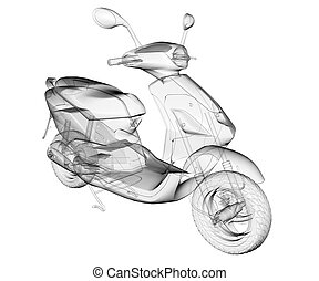 isolated transparent scooter image