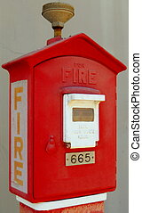 Fire Alarm Box - A Red Fire Alarm Box at the ready.