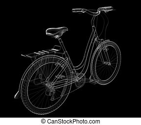isolated transparent bicycle image