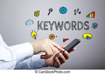 Keywords Business Concept - Keywords business concept with...
