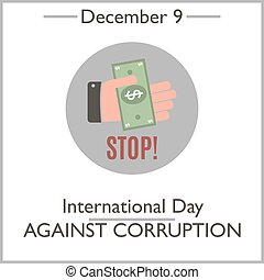 International Day Against Corruption December 9 Vector...