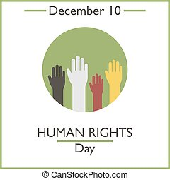 Human Rights Day. December 10. Vector illustration for you...
