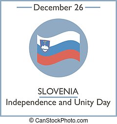 Slovenia Independence and Unity Day. December 26. Vector...