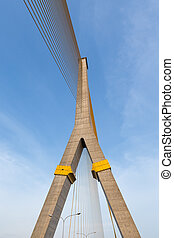Rama VIII bridge. - Rama VIII bridge of Bangkok city....