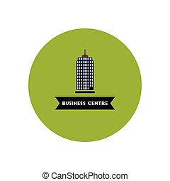 stylish icon in color circle building business Centre -...