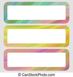 Colored digital art rounded shaped banner set - Colored...