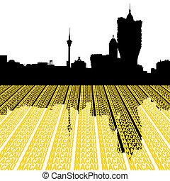 Macau Skyline with text - Macau Skyline with city text...