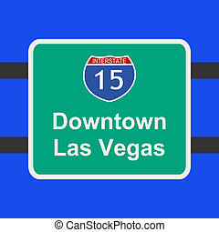 freeway to Las Vegas sign