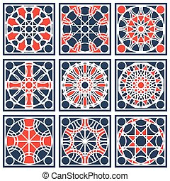 Vector Geometric Pattern - Patterns set with arabic...