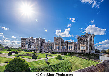 Windsor castle with garden near London, United Kingdom
