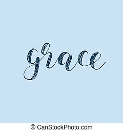 Grace. Brush lettering. - Grace. Brush hand lettering....