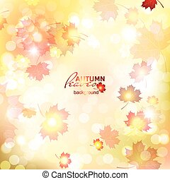 Illustration of fuzzy soft warm autumn background. -...