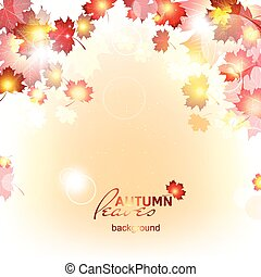 Abstract background of autumn leaf fall. - Abstract...
