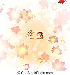 Illustration beautiful autumn background - Illustration of...