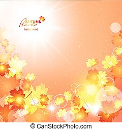 Natural vector illustration of beautiful autumn background...