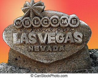 Welcome to Fabulous Las Vegas sign, made of Sand done...