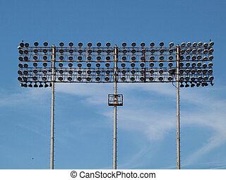 Stadium Lights - Stadium-style lights taken at Oakland...