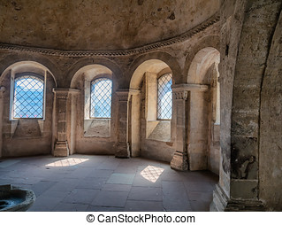 Porta Nigra interior in Trier, Germany