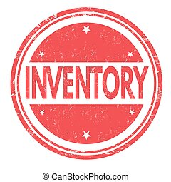 Inventory stamp or sign - Inventory grunge rubber stamp on...