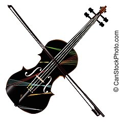 Country Fiddle Lazer Lights - A typical violin with lazer...