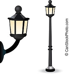Streetlight Set - Vector Retro Styled Streetlight Set