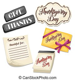 Thanksgiving Day set of object Decoration for celebratory...