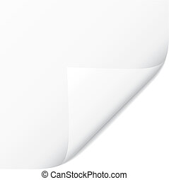 Curled Corner - White vector page curled corner. Paper...