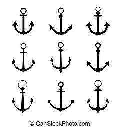 Set of anchor symbols or logo
