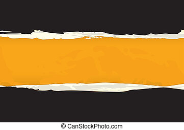 Torn Paper - Vector Abstract Orange Torn Paper