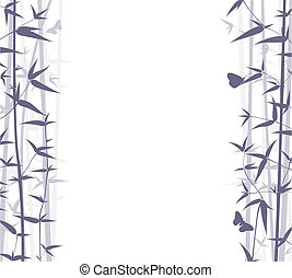 Bamboo Background - Vector Bamboo Background. Nature...