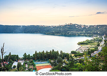 Castel Gandolfo and Albano Lake, Italy - Castel Gandolfo and...