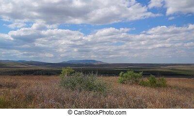 Plateau and mountains in Crimea pan - Panorama of plateau...