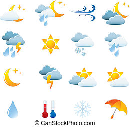 Weather Icon Set Easy To Edit Vector Image