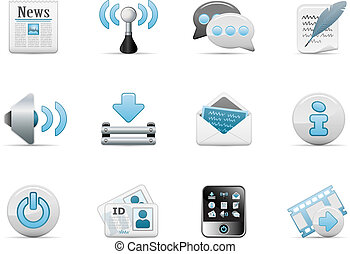 Web Blog Icon Set