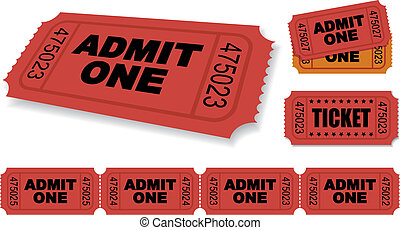 Ticket - Admit One Vector Ticket Set