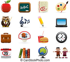 School Icon Set - School And Education Icon Set